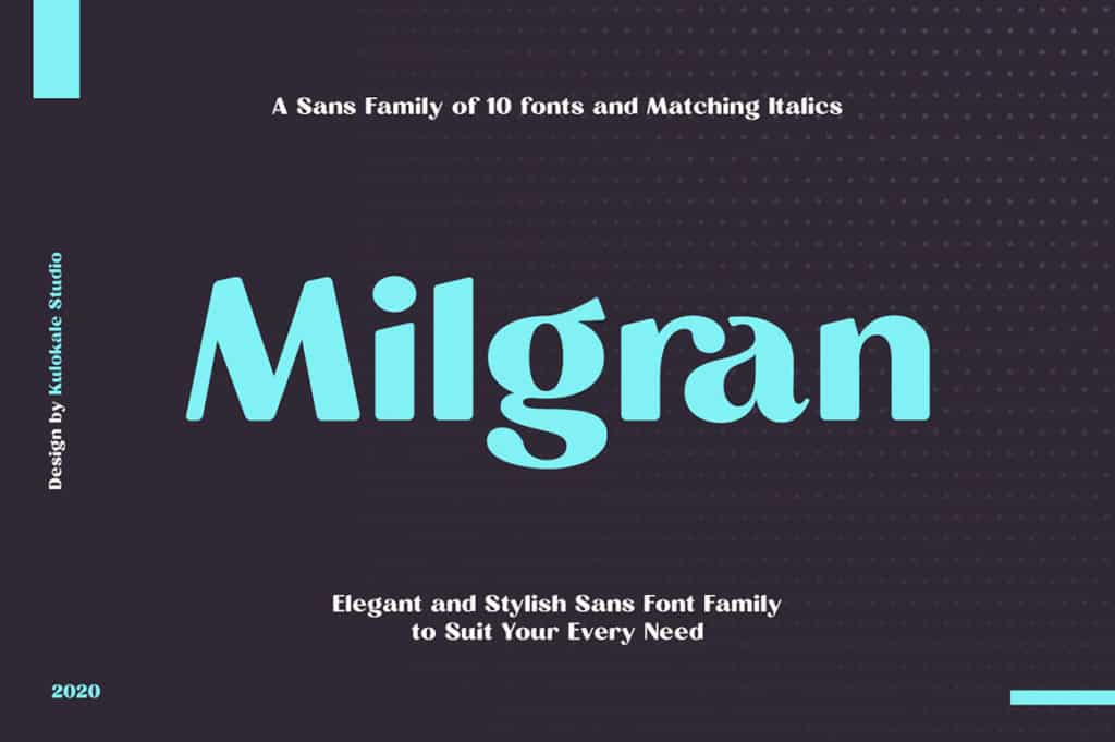 Milgran Sans Font Family