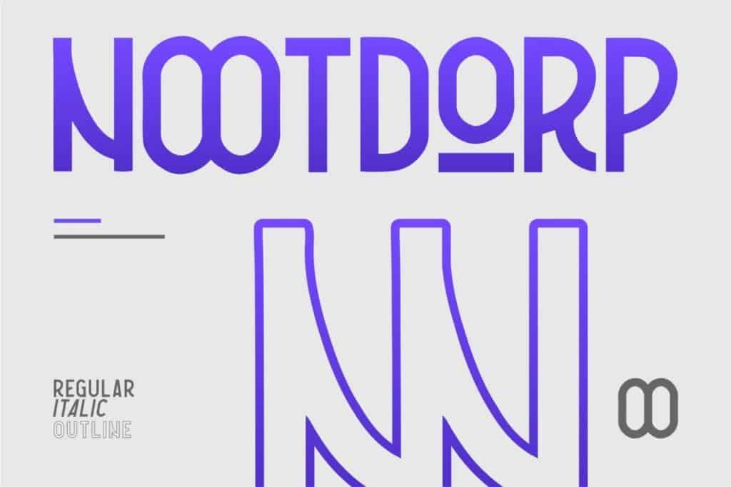 Nootdorp - Headline Typeface