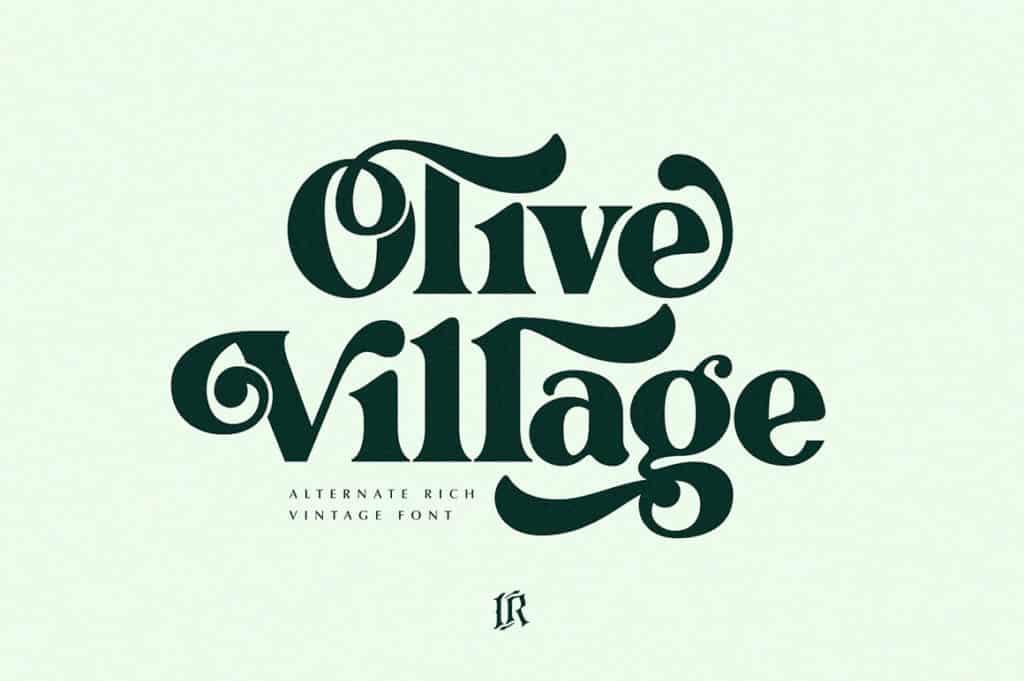 Olive Village – Vintage Font (Best Headline Fonts)