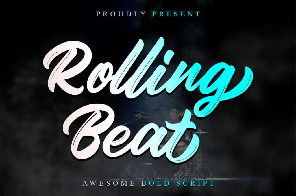 Rolling Beat – Modern Bold Script