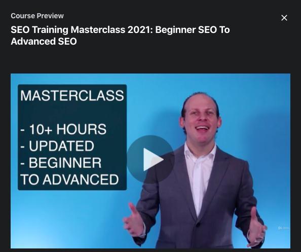 SEO Training Masterclass 2021: Beginner SEO To Advanced SEO