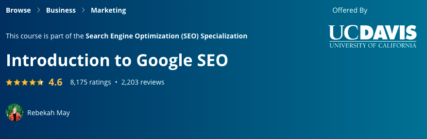 Introduction to Google SEO