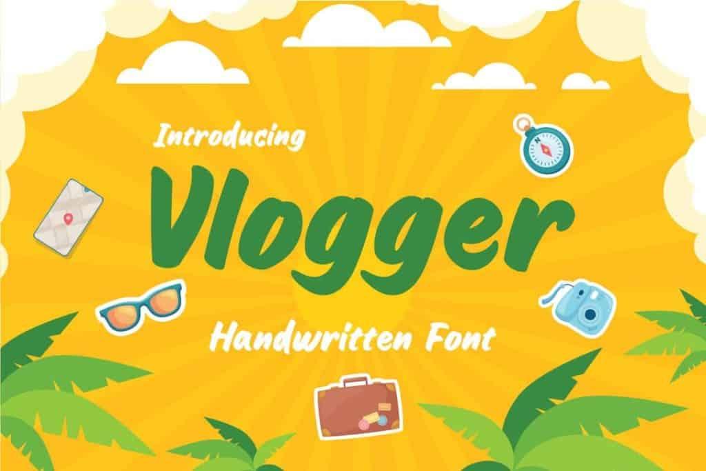 Vlogger-Fun-Headline-Youtube-Handwritten-Font
