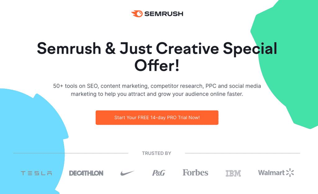 SEMRush 14 Day Free Trial