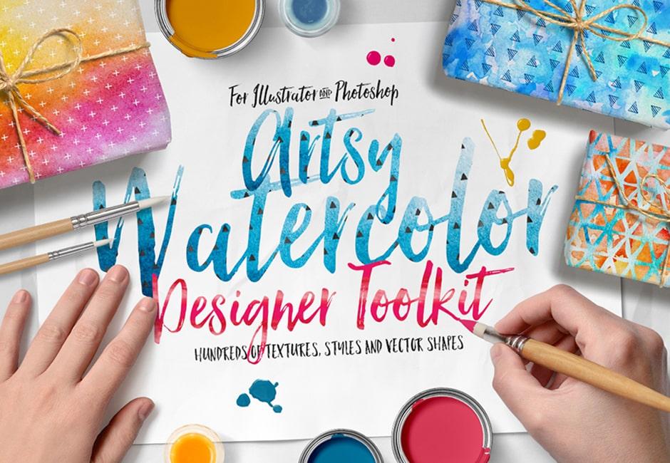 Artsy Watercolor Designer Toolkit