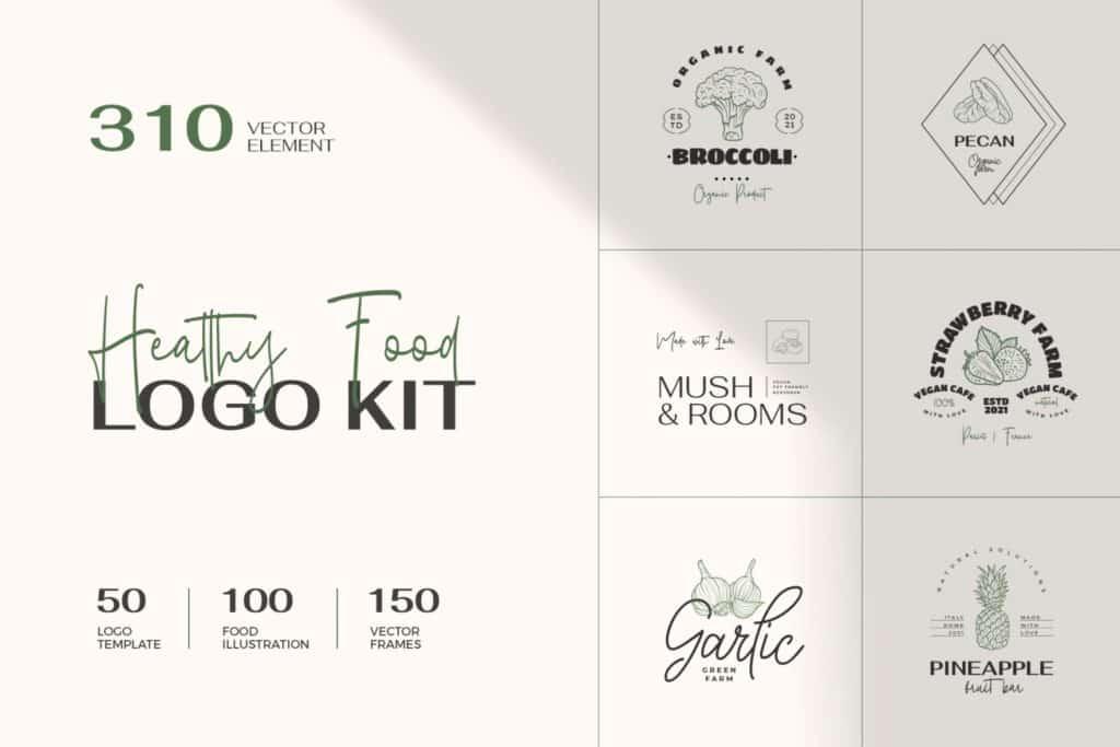 Healthy Food Logo Kit