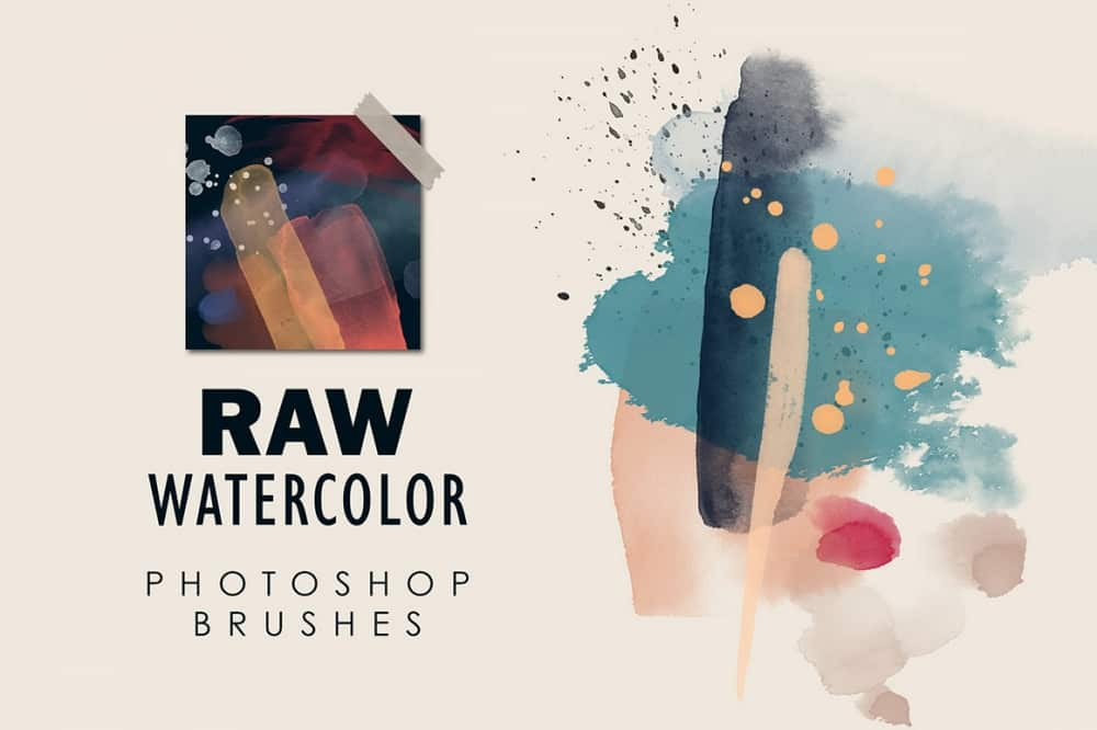 Raw Watercolor – Photoshop Stamp Brushes