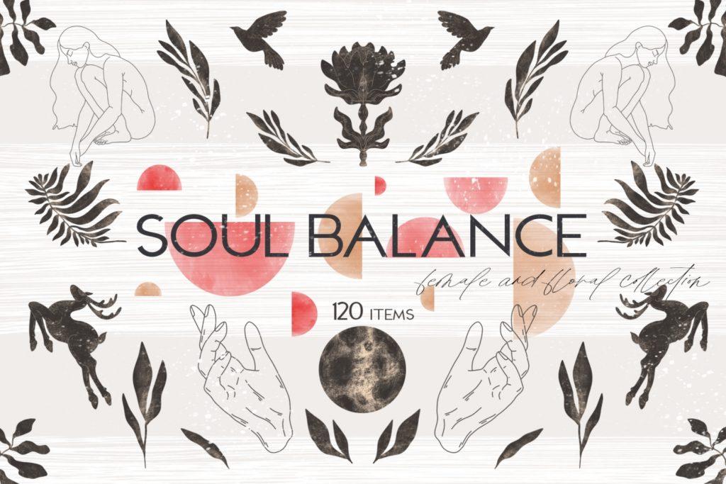 Soul Balance Female & Floral Set