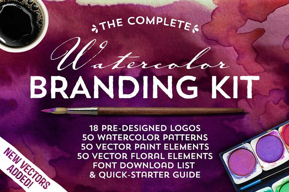 The Complete Watercolor Branding Kit