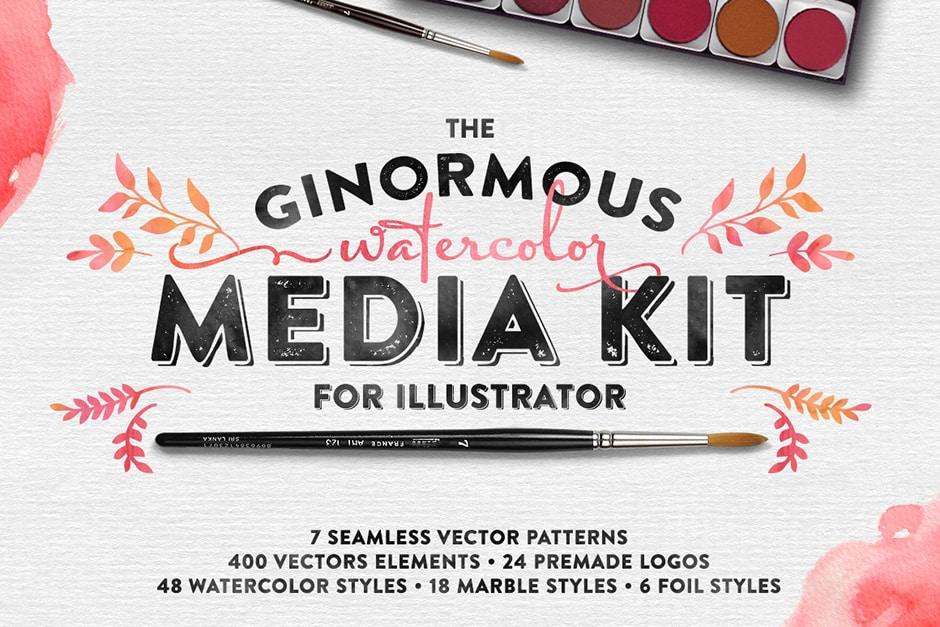 The Watercolor Media Kit for Illustrator