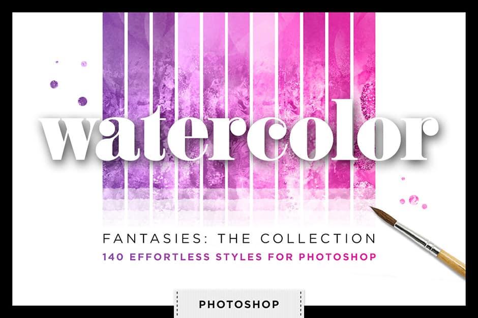 Watercolor Glitter Styles Bundle