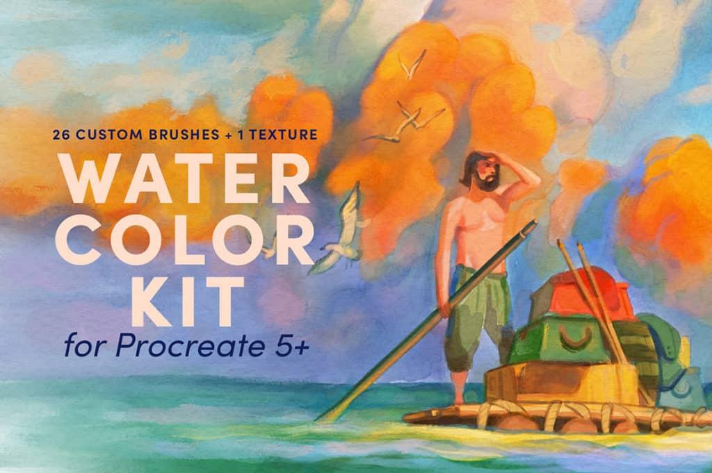 Watercolor Kit Procreate Brushes