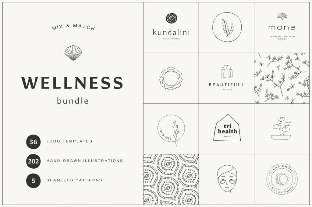 Wellness & Self-care Logo Templates