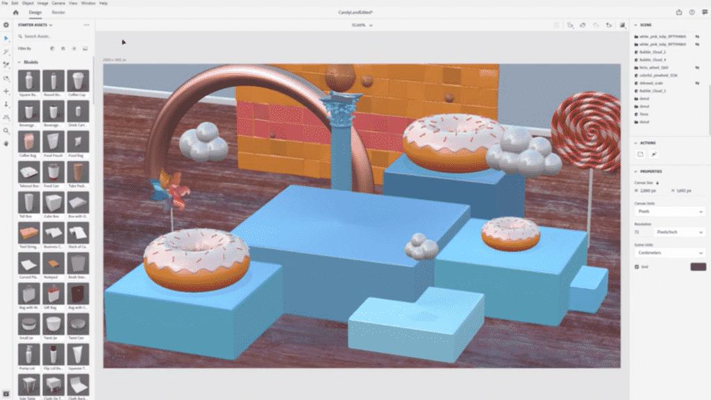 Adobe Dimension Interface