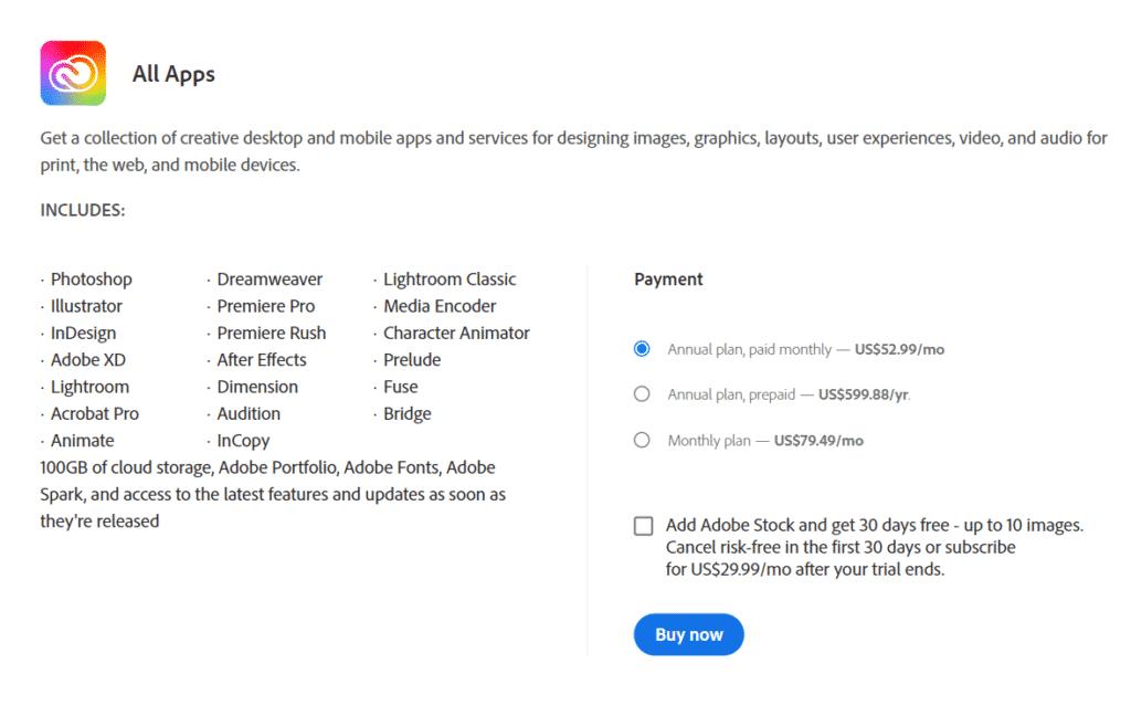 Adobe Dimension Pricing