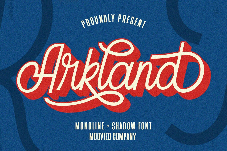 Best Shadow Fonts - Arkland Monoline