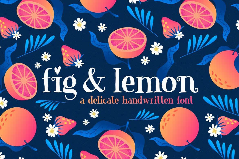& Lemon Font Duo