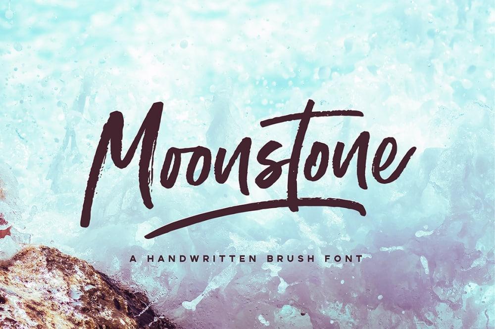 Moonstone Brush Font
